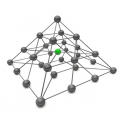 Pyramid with nodes and connecting bars
