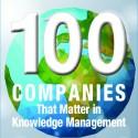 Knowledge World 100 companies that matter award logo
