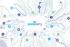 PoolParty logo and data in a cloud